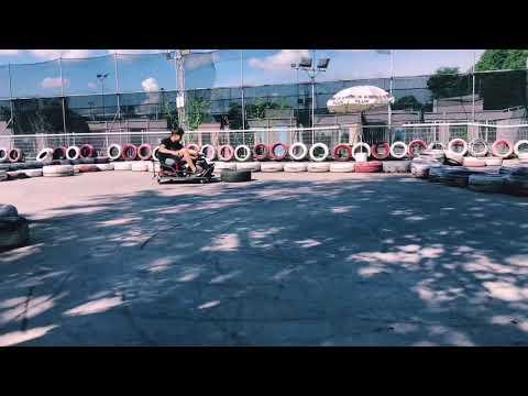 Drift Karting Demonstration At Maximum Drift Karting Arena