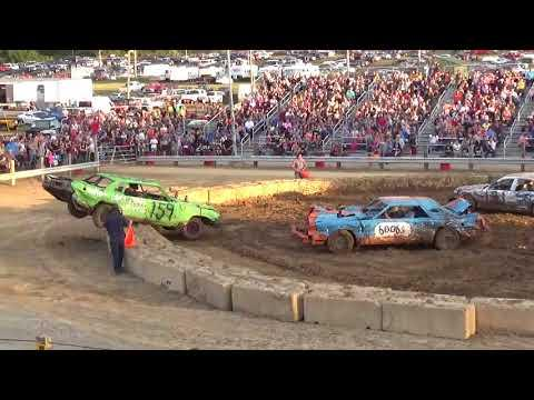 Chelsea Fair 2018 Demolition Derby Heat 1 (Big Cars) (8-22-18)